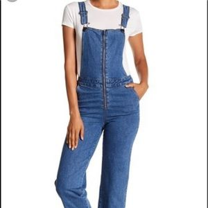 Cotton on cropped overall jeans